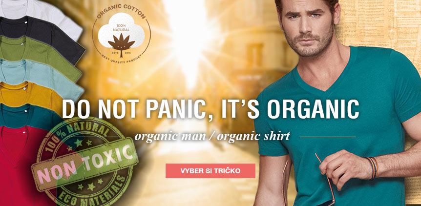 Pánská trička z organické bavlny