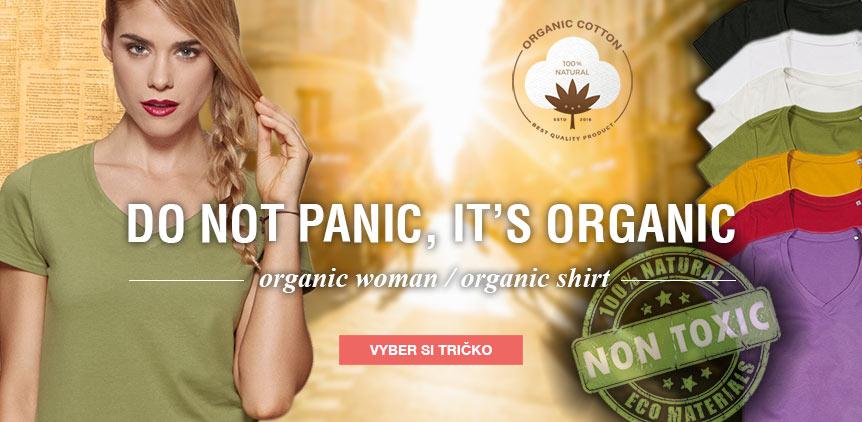 Dámská trička z organické bavlny