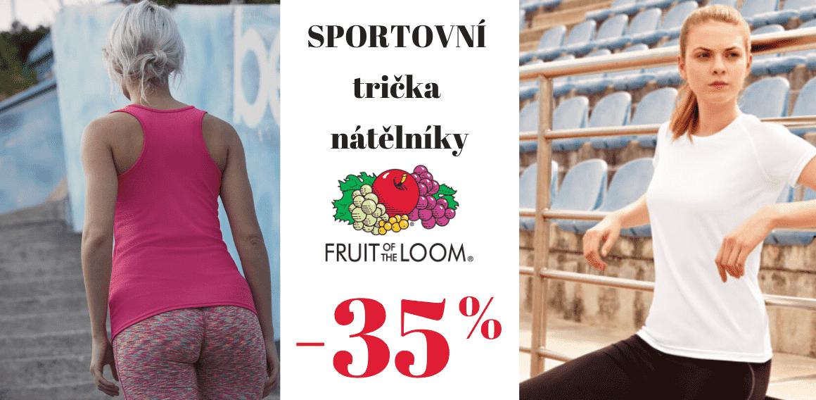 Sleva na sportovní trička a nátělníky 35%