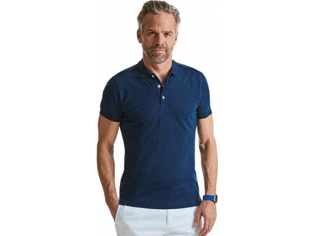 Pánské strečové polo tričko s límečkem a krátkými rukávy