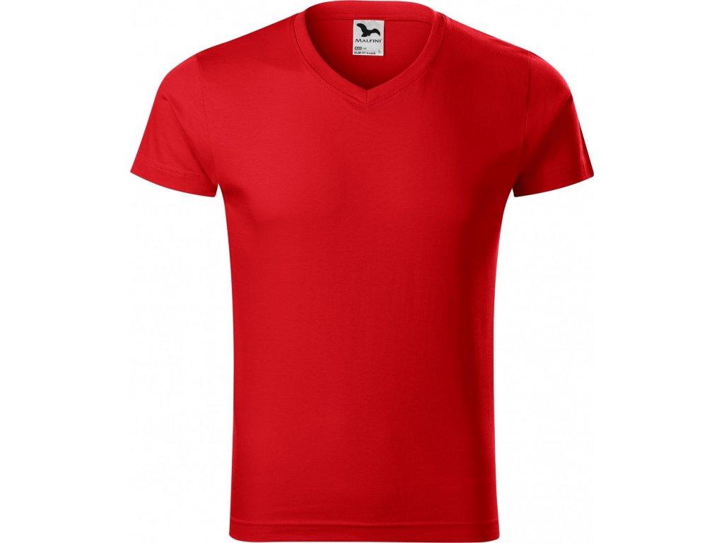 4468983d88b0 ... Pánské vypasované bavlněné slim-fit tričko do véčka ...