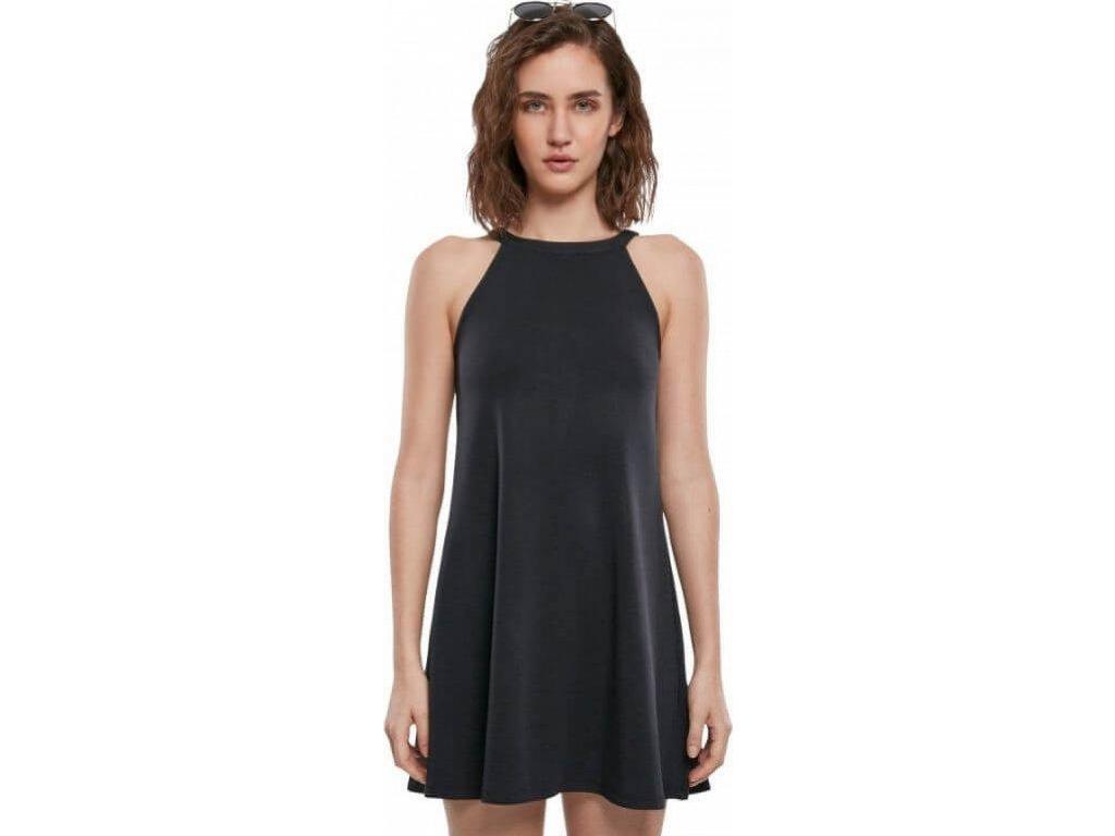Měkkoučké volné mini šaty Urban Classics z interloku 250 g/m