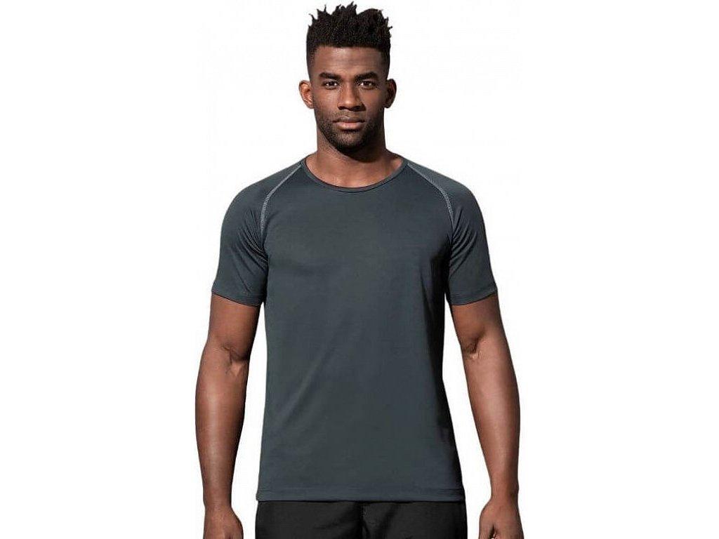 Sportovní tričko ze síťovaného materiálu a s raglánovými rukávy