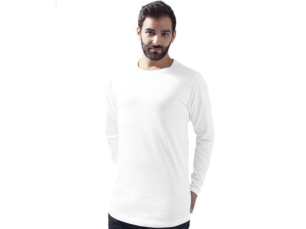 Extra dlouhé triko s dlouhým rukávem Build Your Brand