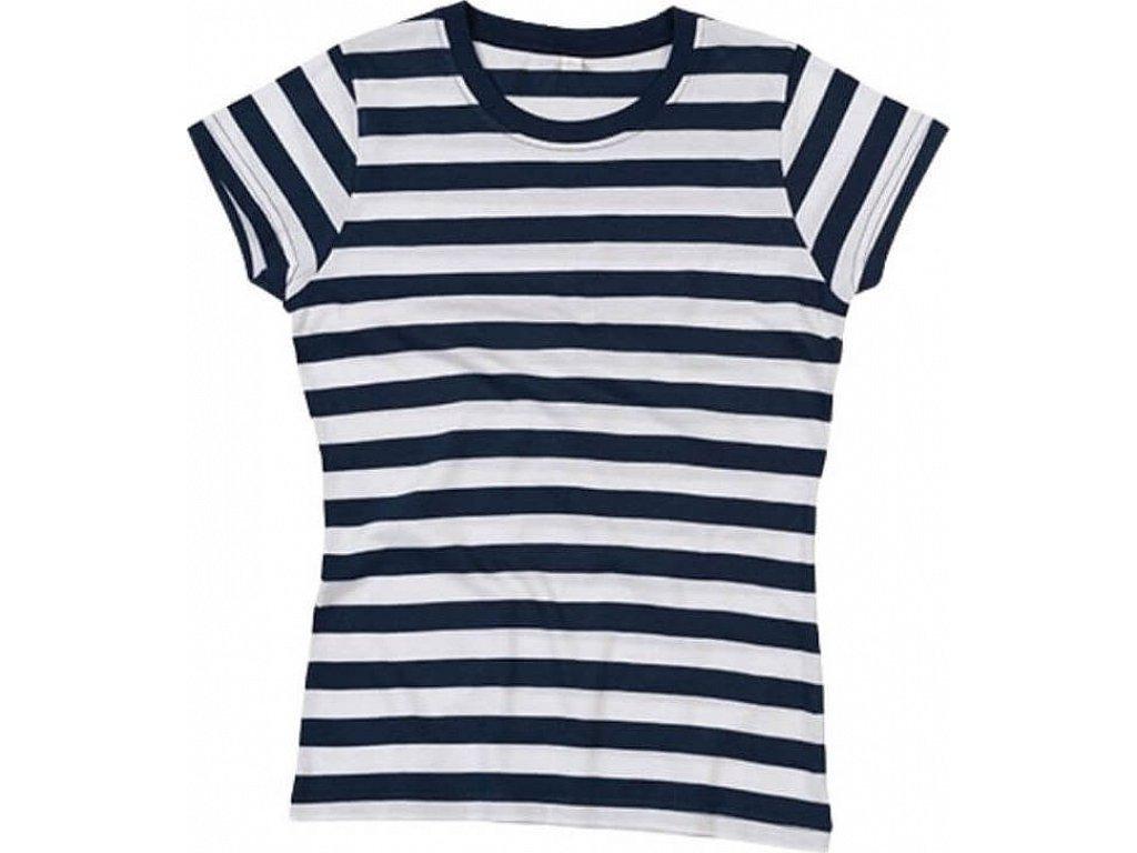66e014f32d56 Dámské pruhované triko s krátkým rukávem Mantis