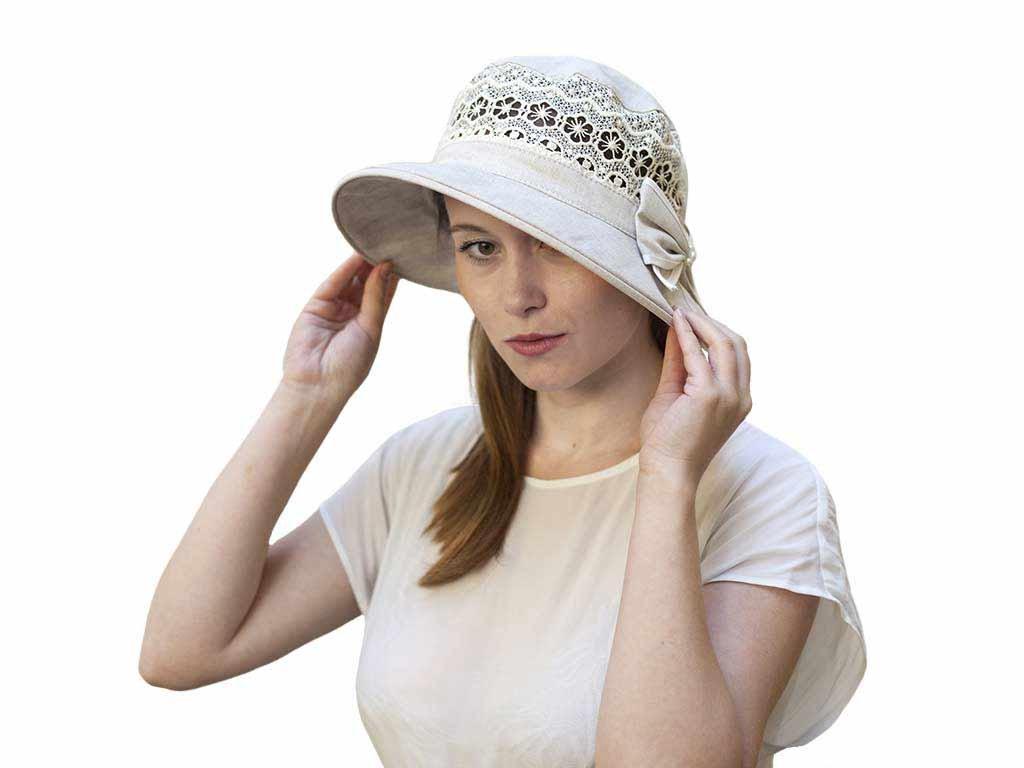 8fdd9d7a93a Dámské › Letní klobouky › Letní nebarvený klobouk ze 100% lnu (12)
