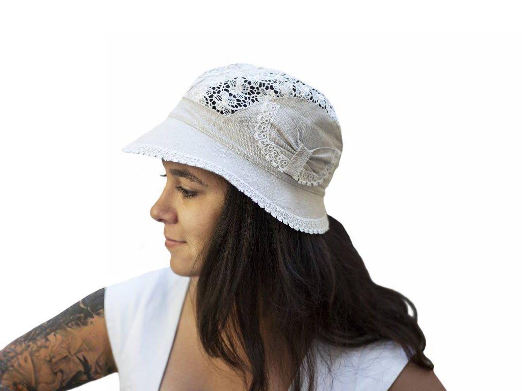 8ed5c25ac81 Dámské › Letní klobouky › Letní nebarvený klobouk ze 100% lnu (19)