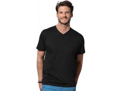 Pohodlné pánské triko s výstřihem do véčka