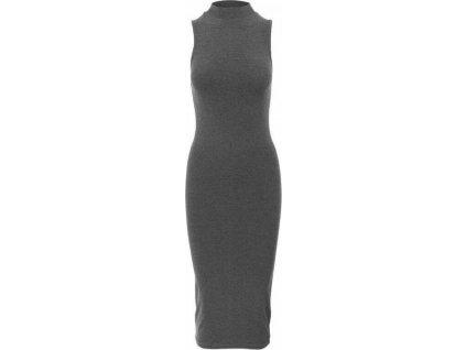 Strečové šaty Urban Classics s vysokým límečkem