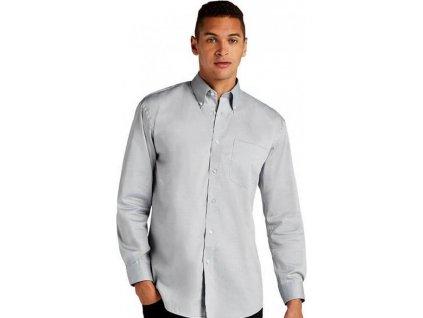 Pánská korporátní oxford košile s kapsičkou a dlouhým rukávem 85% bavlna