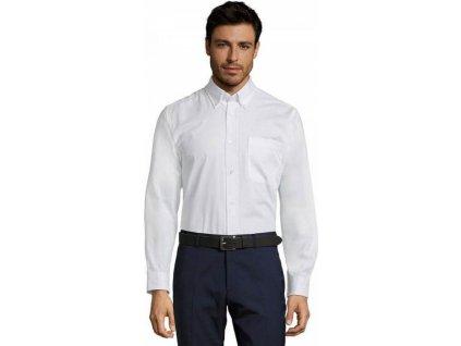 Keprová pánská košile Bel-Air s dlouhým rukávem a kapsičkou na prsou 100% bavlna