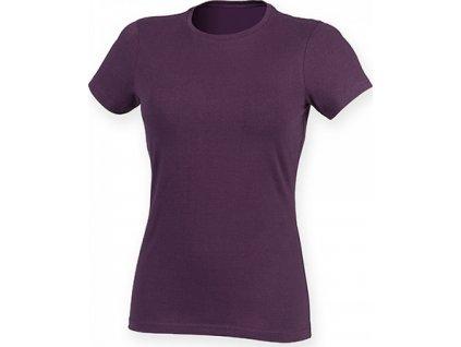 Prodloužené strečové pánské triko Skin Fit s elastanem 165 g/m