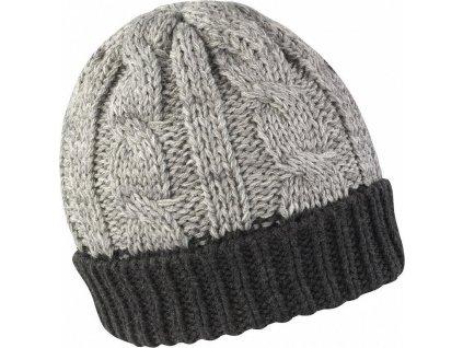 Dlouhá a mimořádně teplá čepice v odstínech šedi