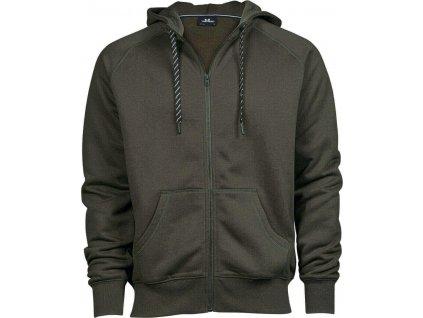Fashion mikina Tee Jays s dvojitou kapucí a kovovým zipem
