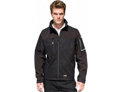 Pracovní strečová softshellová bunda s reflexními prvky