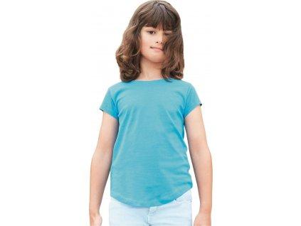 Dívčí tričko Mantis s kulatým spodním lemem a z měkkoučké bavlny