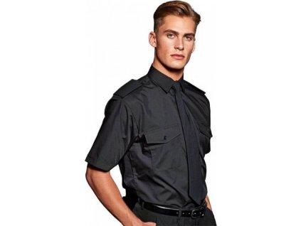 Pánská košile Pilot s krátkým rukávem a dvěma náprsními kapsami