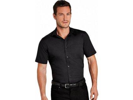 Popelínová pánská košile lehce zúžená kolem pasu