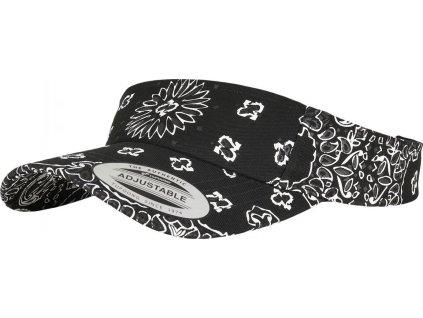 Prohnutý kšilt Flexfit s bandana vzorem a gumovým páskem