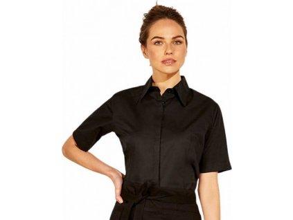 Dámská polovypasovaná strečová košile s krátkým rukávem Bargear