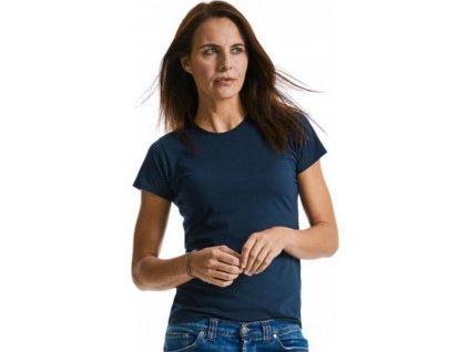 Žíhané dámské tričko z polybavlny 35% bavlna 65% polyester