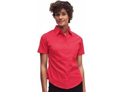 Dámská popelínová košile s krátkým rukávem