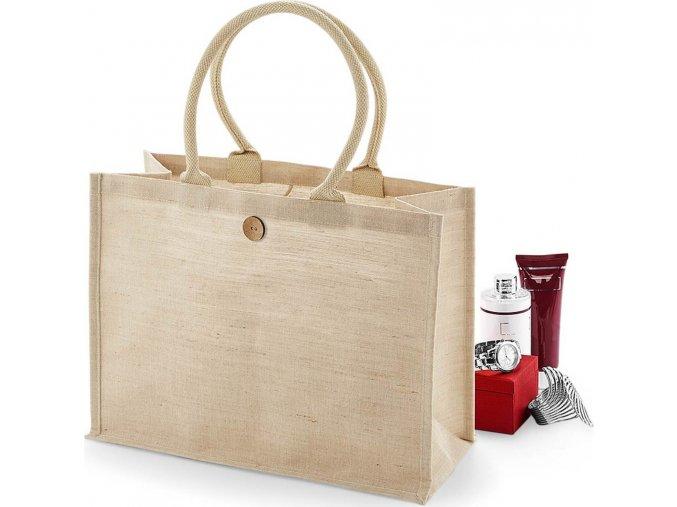 Nákupní taška z Juco - směs juty a bavlny 21 l