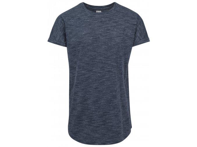 Prodloužené strakaté triko Urban Classics s ohrnutými rukávy
