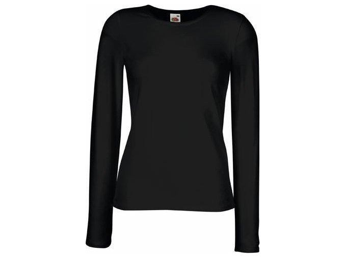 Dámské prodloužené tričko elastanem, dlouhý rukáv