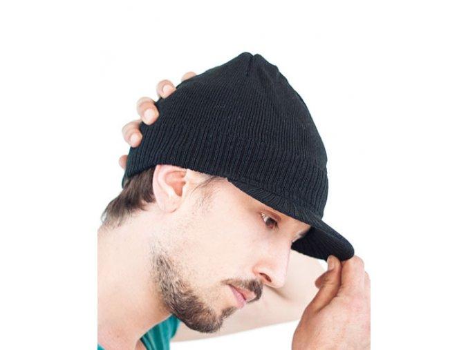 Pánská beanie čepice Walker s tvarovaným kšiltem