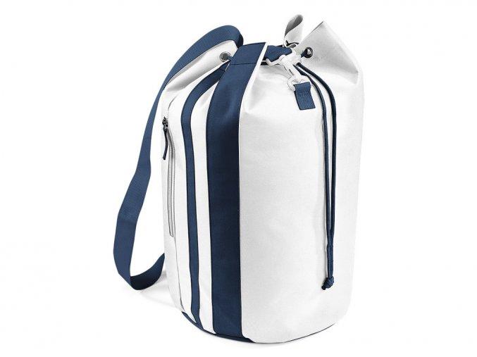 Dvoubarevná taška na zavazování šňůrkou s kapsami BagBase french navy