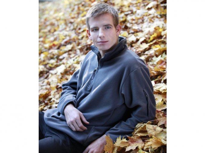 Micro fleecová bunda s krátkým zipem, Fruit of the Loom