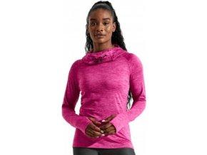 Dlouhé dívčí tričko s vysokým límcem a mnišskou kapucí