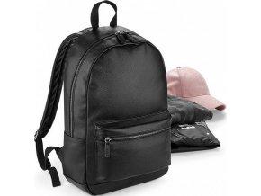 Moderní unisex černý batoh z umělé kůže 18 l