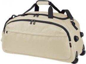 Elegantní taška / kufr na kolečkách s kapsou na boty