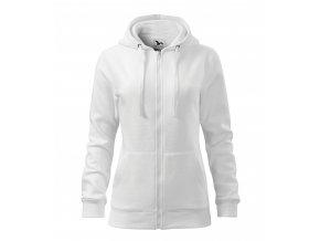 Dámská celopropínací mikina Trendy Zipper s kapucí s podšívkou 65% bavlny