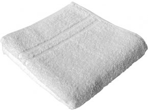 Bílý hotelový ručník vysoce savý 70 x 140 cm, 450 g/m
