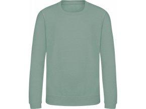 Dětská mikina Awdis s dvojitým prošitím 80% bavlna