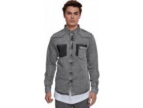 Lehká pánská denimová košile Urban Classics s kapsičkou