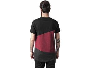 Prodloužené vícebarevné pánské triko Zig Zag Urban Classics