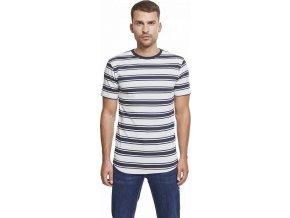 Prodloužené proužkované bavlněné triko Urban Classics