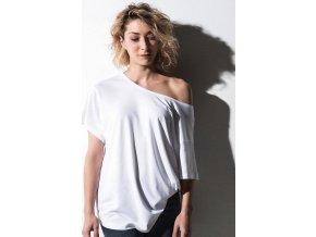 Kate módní tričko z vizkózy/bavlny Boxy