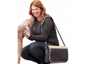 Velká taška přes rameno na magnetický uzávěr a přední kapsou na zip