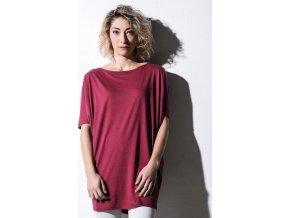 Dámské oversize triko Chloé z organické bavlny a Lyocelle s netopýřími rukávy, 120 g/m