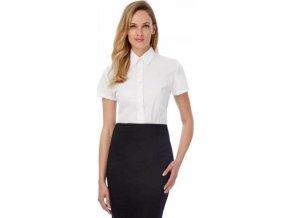Lehká dámská popelínová košile BC s krátkým rukávem a úpravou Easy Care