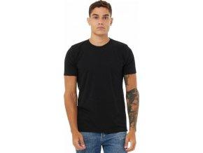 Unisex triko z lehké polybavlny  s mramorovým vzorem