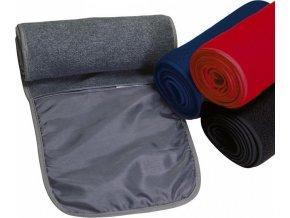 Fleecová šála s kapsou na zip s antipilingovou úpravou 140 x 20 cm