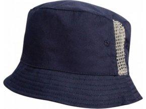 Bavlněný klobouček s větracími očky a síťovanou vsadkou po stranách