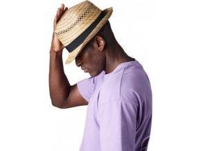 Ručně vyráběný slaměnný klobouk Trilby