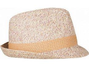 Odolný slaměnný melírový klobouk z pružného materiálu